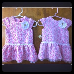 Little Me Dresses - Cute Pink and Daisy Dress/Top